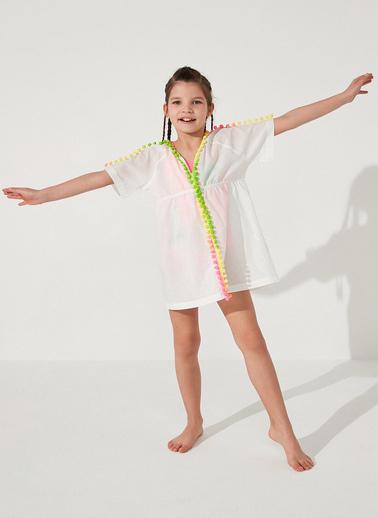 Penti Beyaz Kız Çocuk Rainbow Kaftan Beyaz